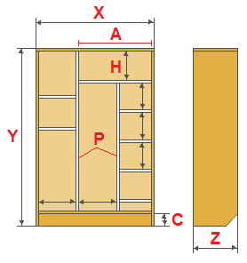 sliding-door wardrobe